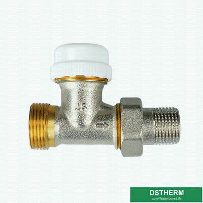Tipo más pesado modificado para requisitos particulares válvula hembra-varón del radiador de Grey Classic Heating Brass Thermostatic de la unión